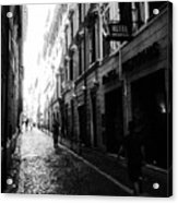 Streets Of Rome 2 Black And White Acrylic Print