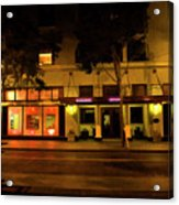 Streets Of San Jose, Ca Midnight Acrylic Print