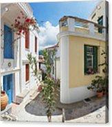 Streets Of Skopelos Acrylic Print