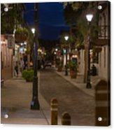 Streets Of St. Augustine At Night Acrylic Print