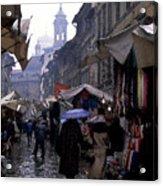 streetscene in Italy Acrylic Print