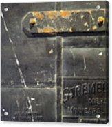 Stremel Bros. Firedoor Acrylic Print