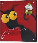Stressiecat And The Bird Acrylic Print