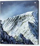 Striding Edge On Helvellin Acrylic Print