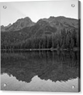 String Lake Reflections Bw Acrylic Print