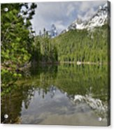 String Lake Teton Reflection Acrylic Print