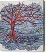 String Tree - Growing By A Thread Acrylic Print