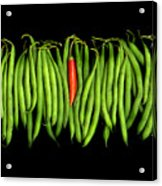 Stringbeans And Chilli Acrylic Print