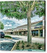 Strip Mall Digital Art Acrylic Print