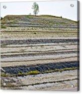 Striped Bank On Side Of A Road In Northwest North Dakota Acrylic Print