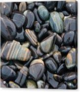 Striped Pebbles Acrylic Print