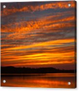 Striped Sunset Acrylic Print