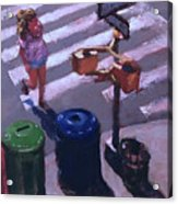 Stripes -- Crossing Broadway Acrylic Print