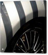 Stripey Wheels Acrylic Print