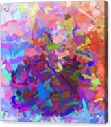 Strips Of Pretty Colors Abstract Acrylic Print