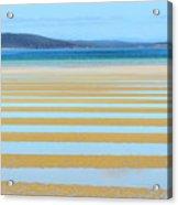 Stripy Shores Acrylic Print