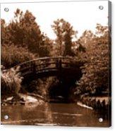 Stroll Garden Bridge Acrylic Print