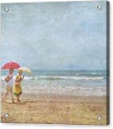 Strolling On The Beach Acrylic Print
