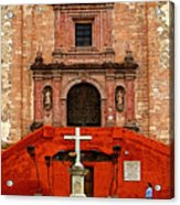 Strolling The Cathedral Plaza Acrylic Print