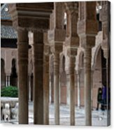 Strolling The Courtyard Of The Lions Acrylic Print