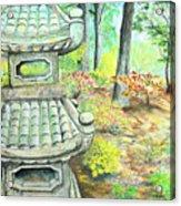 Strolling Through The Japanese Garden Acrylic Print