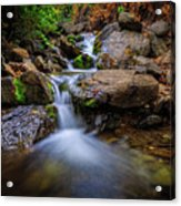 Strongs Canyon Cascades Acrylic Print