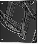 Structure - Center For Brain Health - Las Vegas - Black And White Acrylic Print