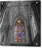 Structures Of St. Patrick Cathedral Bw Acrylic Print