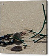 Stuck In The Sand Acrylic Print