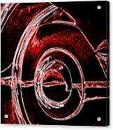 Studebaker Neon Red Acrylic Print