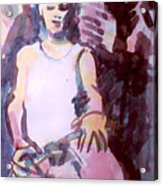 Student With Clay Acrylic Print