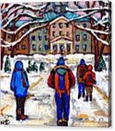 L'art De Mcgill University Tableaux A Vendre Montreal Art For Sale Petits Formats Mcgill Paintings  Acrylic Print