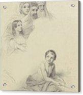 Studies Of Children And Some Adults, Cornelis Kruseman, 1814 Acrylic Print