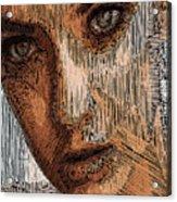 Studio Portrait In Pencil  Acrylic Print