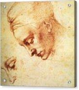 Study For The Head Of Leda Acrylic Print