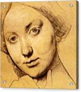 Study For Vicomtesse D Hausonville Born Louise Albertine De Broglie Acrylic Print