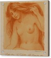 Study From La Toilette After Renoir Acrylic Print