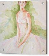 Study Of A Ballerina Acrylic Print
