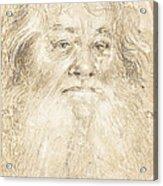 Study Of A Bearded Man [verso] Acrylic Print