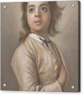 Study Of A Boy In Half Length, Jean-etienne Liotard, 1736 - 1738 Acrylic Print