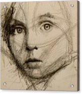 Study Of A Face Acrylic Print