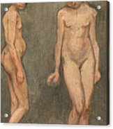 Study Of A Naked Model Acrylic Print