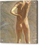 Study Of A Nude Boy Acrylic Print