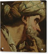 Study Of An Oriental Head Acrylic Print