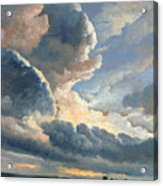Study Of Clouds With A Sunset Near Rome Acrylic Print