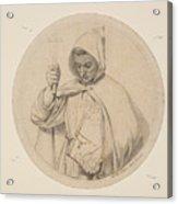 Study Of Monk Representing The Catholic Faith Acrylic Print