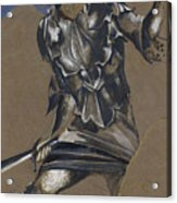 Study Of Perseus In Armour For The Finding Of Medusa Acrylic Print