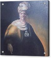 Study Of Rembrant Man In Turban Acrylic Print