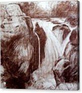 Study Of Rocks At Betws-y-coed Acrylic Print