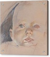 Study Of Young Baby Acrylic Print